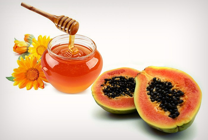 honey and papaya mask
